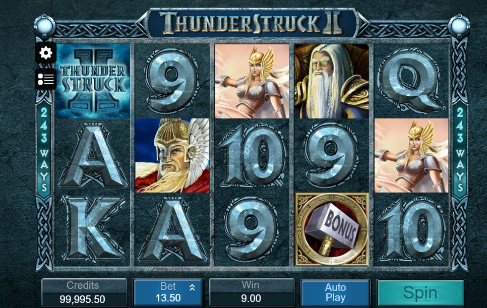 thunderstruck 2 gameplay